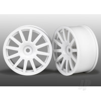 Wheels, 12-spoke (white) (2pcs)