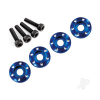 Wheel nut washer, machined aluminium, blue / 3x12mm CS (4pcs)