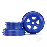 Wheels, SCT blue, beadlock style, dual profile (1.8in inner, 1.4in outer) (2pcs)