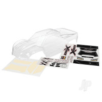 Body, X-Maxx (clear, trimMedium, requires painting) / window masks / decal sheet
