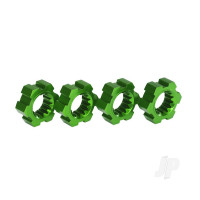 Wheel hubs, hex, aluminium (green-anodized) (4pcs)