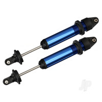 Shocks, GTX, aluminium (Blue-anodized) (fully assembled with out springs) (2 pcs)