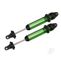 Shocks, GTX, aluminium (Green-anodized) (fully assembled with out springs) (2 pcs)