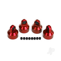 Shock caps, aluminium (Red-anodized), GTX shocks (4 pcs) / spacers (8 pcs)