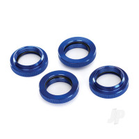 Spring retainer (adjuster), Blue-anodized aluminium, GTX shocks (4 pcs) (assembled with o-ring)