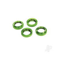 Spring retainer (adjuster), green-anodized aluminium, GTX shocks (4pcs) (assembled with o-ring)