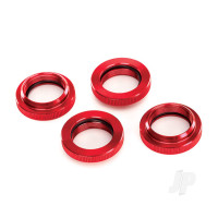 Spring retainer (adjuster), Red-anodized aluminium, GTX shocks (4 pcs) (assembled with o-ring)