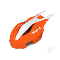 Canopy, front, orange / white, Aton