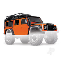 Body, Land Rover Defender, adventure orange (complete with ExoCage, inner fenders, fuel canisters, and jack)