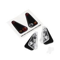 Tail light housing (2pcs) / lens (2pcs) / decals (left & right) (fits #8011 body)