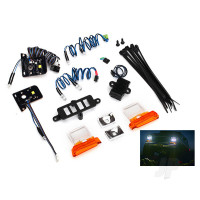 LED light set (contains headlights, tail lights, side marker lights, & distribution block) (fits #8010 body, requires #8028 power supply)