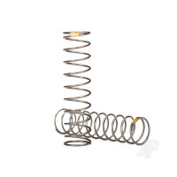 Springs, shock (natural finish) (GTS) (0.22 rate, yellow stripe) (2pcs)