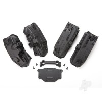 Fenders, inner (narrow), front & rear (2 each) / rock light covers (8pcs) / battery plate / 3x8 flat-head screws (4pcs)