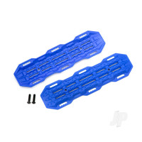 Traction boards, blue / mounting hardware