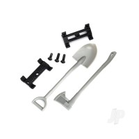 Shovel / axe / accessory mount / mounting hardware