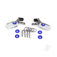 Mirrors, side, chrome (left & right) / o-rings (4pcs) / body clips (4pcs) (fits #8130 body)