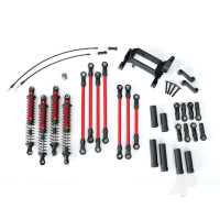 Long Arm Lift Kit, TRX-4, complete (includes red powder coated links, red-anodized shocks)