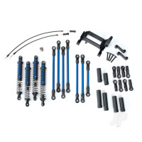 Long Arm Lift Kit, TRX-4, complete (includes blue powder coated links, blue-anodized shocks)