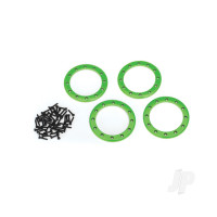 Beadlock rings, green (2.2in) (Aluminium) (4pcs) / 2x10 CS (48)