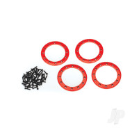 Beadlock rings, red (2.2in) (Aluminium) (4pcs) / 2x10 CS (48)
