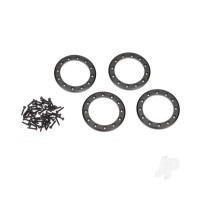Beadlock rings, black (2.2in) (Aluminium) (4pcs) / 2x10 CS (48)