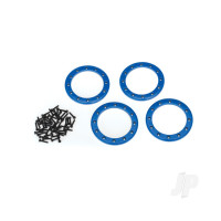 Beadlock rings, blue (2.2in) (Aluminium) (4pcs) / 2x10 CS (48)