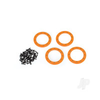 Beadlock rings, orange (1.9in) (Aluminium) (4pcs) / 2x10 CS (48)