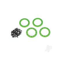 Beadlock rings, green (1.9in) (Aluminium) (4pcs) / 2x10 CS (48)