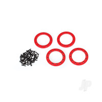 Beadlock rings, red (1.9in) (Aluminium) (4pcs) / 2x10 CS (48)