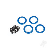 Beadlock rings, blue (1.9in) (Aluminium) (4pcs) / 2x10 CS (48)