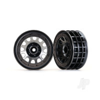 Wheels, Method 105 2.2in (black chrome, beadlock) (beadlock rings sold separately)