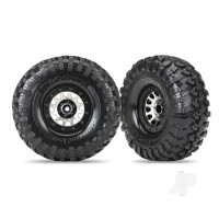 Tyres & Wheels, assembled (Method 105 black chrome beadlock wheels, Canyon Trail 2.2in Tyres, foam inserts) (1 left, 1 right)