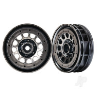Wheels, Method 105 1.9in (black chrome, beadlock) (beadlock rings sold separately)