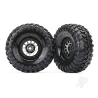 Tyres & Wheels, assembled (Method 105 black chrome beadlock wheels, Canyon Trail 1.9in Tyres, foam inserts) (1 left, 1 right)