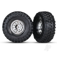 Tyres and Wheels, Assembled Glued 1.9in Chrome Wheels (2 pcs)