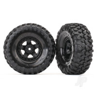 Tires and wheels, assembled, glued (TRX-4 Sport wheels, Canyon Trail 1.9 tires) (2pcs)
