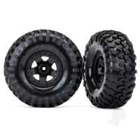 Tires and wheels, assembled, glued (TRX-4 Sport wheels, Canyon Trail 2.2 tires) (2pcs)