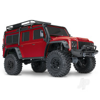 Red TRX-4 Land Rover Defender 1:10 4WD Electric Trail Crawler RTD (+ TQi , XL-5 HV, Titan 550)