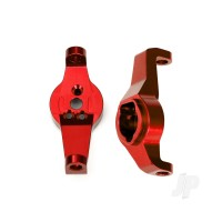 Caster blocks, 6061-T6 aluminium (Red-anodized), left and right