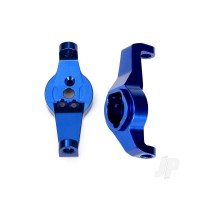 Caster blocks, 6061-T6 aluminium (Blue-anodized), left and right