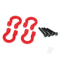 Bumper D-rings, red (front or rear) / 2.0x12 CS (4pcs)