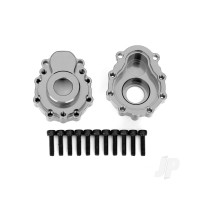Portal housings, outer, 6061-T6 aluminium (charcoal grey-anodized) (2pcs) / 2.5x10 CS (12pcs)
