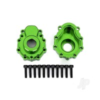 Portal housings, outer, 6061-T6 aluminium (green-anodized) (2pcs) / 2.5x10 CS (12pcs)
