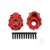 Portal housings, outer, 6061-T6 aluminium (red-anodized) (2pcs) / 2.5x10 CS (12pcs)
