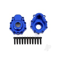 Portal housings, outer, 6061-T6 aluminium (blue-anodized) (2pcs) / 2.5x10 CS (12pcs)