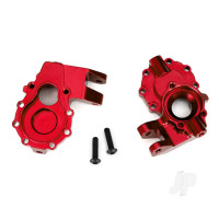 Portal housings, inner (Front), 6061-T6 aluminium (Red-anodized) (2 pcs) / 3x12 BCS (2 pcs)