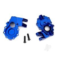 Portal housings, inner (Front), 6061-T6 aluminium (Blue-anodized) (2 pcs) / 3x12 BCS (2 pcs)
