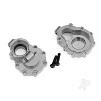 Portal housings, inner (Rear), 6061-T6 aluminium (charcoal grey-anodized) (2 pcs) / 2.5x10 CS (2 pcs)