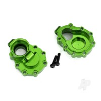 Portal housings, inner (Rear), 6061-T6 aluminium (Green-anodized) (2 pcs) / 2.5x10 CS (2 pcs)
