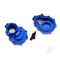 Portal housings, inner (Rear), 6061-T6 aluminium (Blue-anodized) (2 pcs) / 2.5x10 CS (2 pcs)